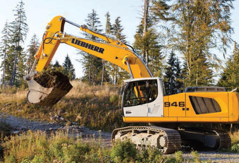 Liebherr R 946 Crawler Excavator at the MaskinExpo 2014
