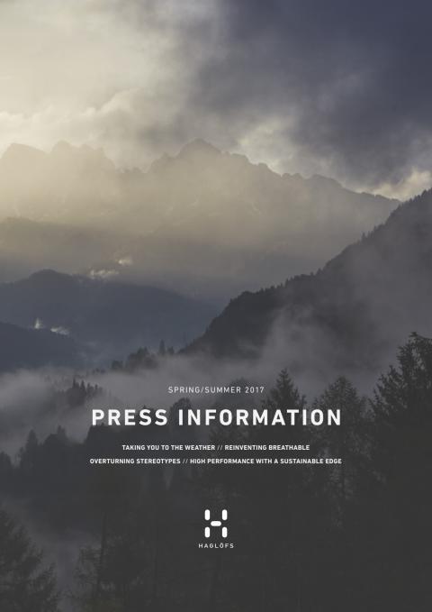 HAGLÖFS PRESS INFORMATION ss17