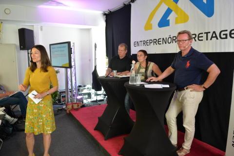 """Entreprenörföretagens seminarium under Almedalsveckan """"Låt oss bygga bort arbetslösheten och bostadsbristen"""""""
