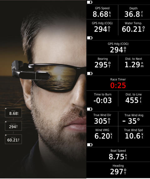 Garmin® Nautix In-View Display