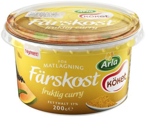 Arla Köket Färskost fruktig curry