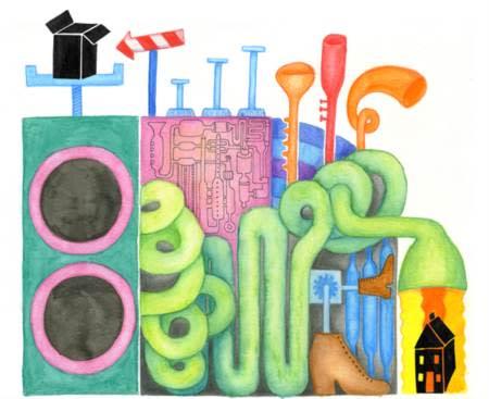 Barn bygger sin drömstad av återvunnet material i projektet Skräp!