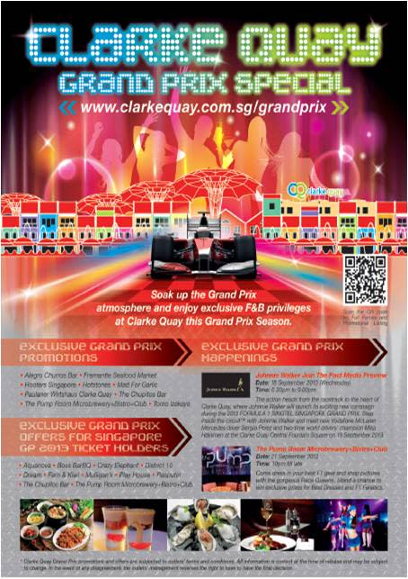 PRESS RELEASE: CLARKE QUAY 2013 GRAND PRIX SPECIAL