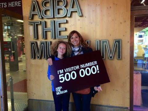 ABBA THE MUSEUM CELEBRATES 500,000th VISITOR