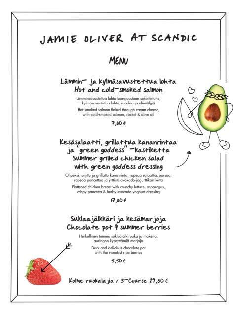 Jamie Oliverin uudet, jännittävät annokset ovat nyt maistettavissasi kaikissa Scandic-hotelleissa