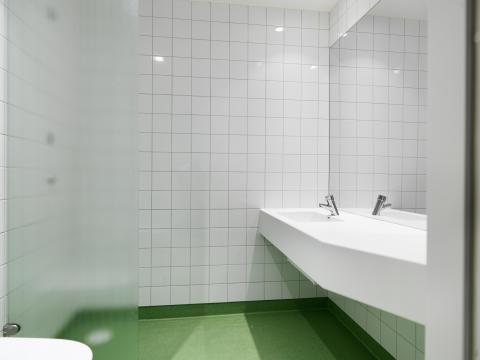 RPC Trelleborg, provrum - dusch