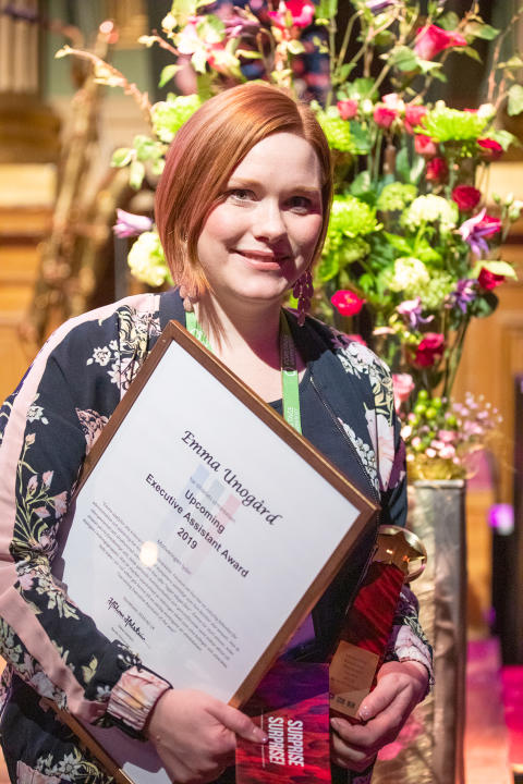 "Emma Unogård korad till ""Upcoming Executive Assistant of the year"""