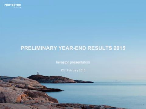 Preliminary year-end results 2015