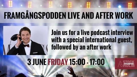 Framgångspodden Live Session Interview with Navin Thukkaram, a Silicon Valley tech investor &  entrepreneur