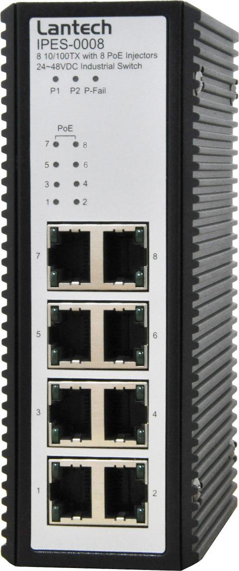 IPES-0008 switch med PoE