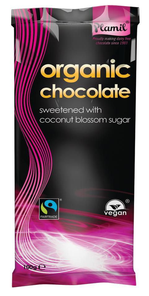 Plamil  67% sjokolade med kokosblomstsukker økologisk melkefri Fairtrade