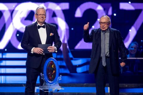 Börje Andersson-Junkka fick Sportspegelpriset av Mats Nyström