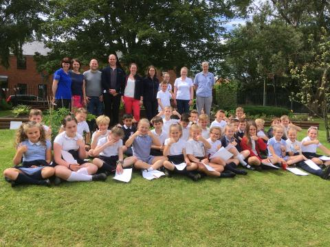 East Boldon Junior School reveals revamped garden thanks to AkzoNobel
