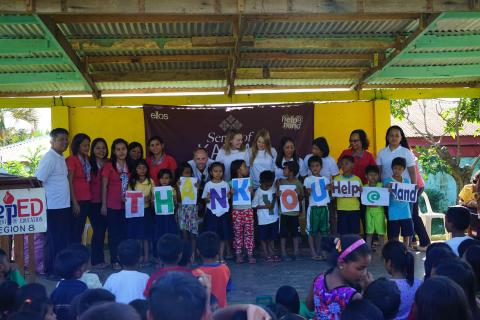 The Swedish NGO Help@Hand makes difference for typhoon-affected children