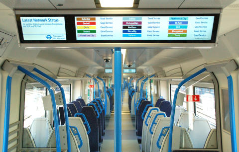 Thameslink trains - smart signs - Tube info