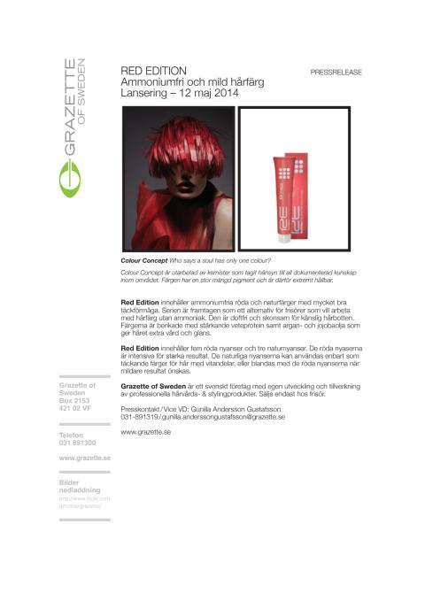 Pressrelease Red Edition