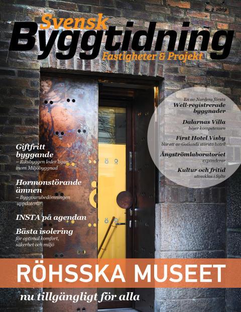 Nya numret av Svensk Byggtidning nr 2 2019 ute nu!