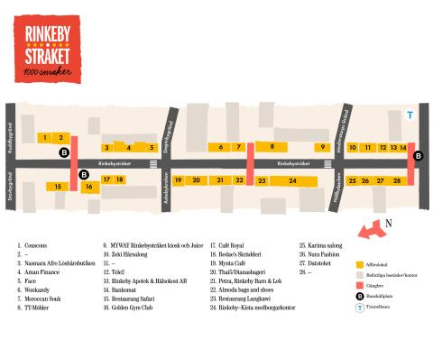 Butikskarta Rinkebystråket