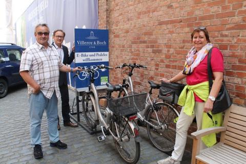 Villeroy & Boch heißt E-Bike- und Pedelec-Fahrer willkommen