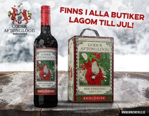 Goder Aftonglögg Röd Vinglögg till alla Systembolagets butiker julen 2015!