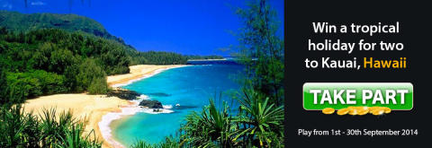 Win a Tropical Holiday for Two to Kauai, Hawaii Courtesy of Lucky Win Slots | LuckyWinSlots.com