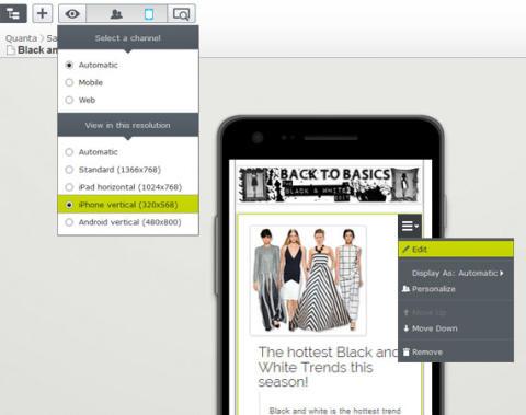 EPiServer Commerce 7.5, produktbild mobila enheter