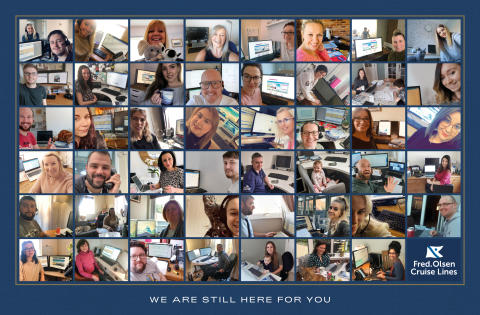 'We are still here for you' – Fred. Olsen Cruise Lines share working from home pictures in show of support for guests and trade