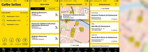Neue App von Gelbe Seiten jetzt für iOS erhältlich