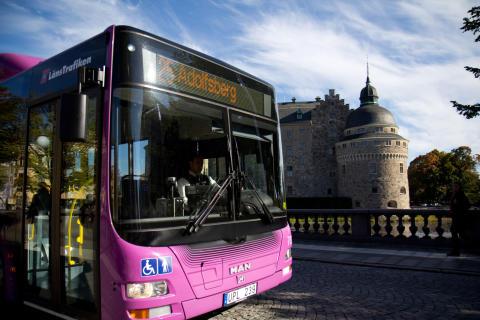 Kraftig ökning av bussåkandet i länet