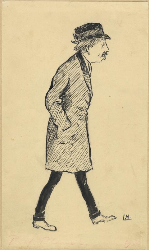 Anton Blanck. Tuschteckning av Carl Lindorm Möllersvärd. Uppsala universitetsbibliotek.