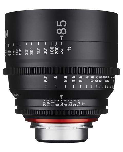 XEEN 85mm T1,5 fra siden