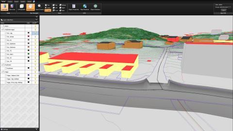 TC5D Map TIN Pointcloud perspective