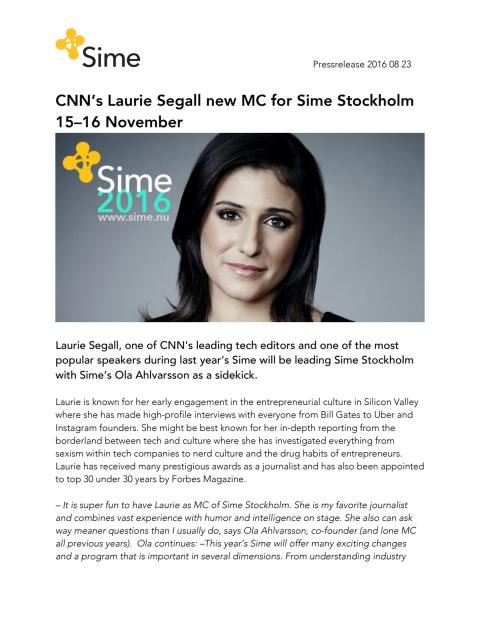 Pressrelease Sime 2016 - ENGLISH VERSION