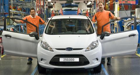 Ford Fiesta rullar av produktionsbandet i Köln