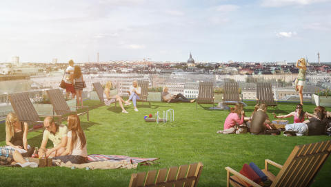 Tjugo dagar högt över Stockholms takåsar