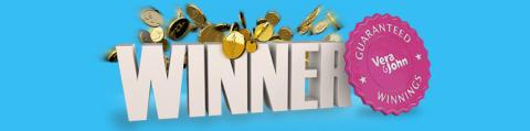 Another lucky €5,000 winner from Vera&John's Guaranteed Winnings