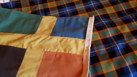 Bergslagen har fått en egen kilt - med samma färger som Bergslagsflaggan