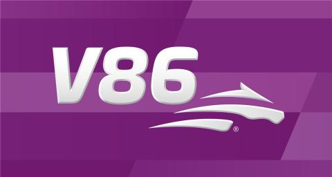 V86 logga