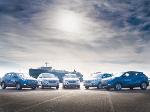 Nye rekorder for Hyundais hydrogenelektriske biler