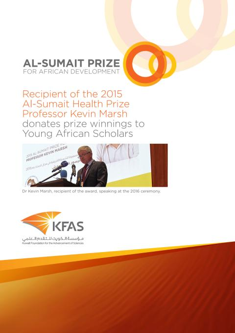 The Positive Impact of winning the Innaugural Al-Sumait Prize for African Development an interview with Professor Kevin Marsh