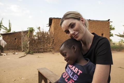 Camilla Pihl i Rwanda