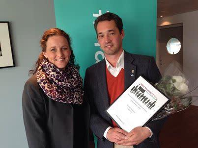 Nynäshamns mest företagarvänliga politiker 2014 är Daniel Adborn (fp) och Harry Bouveng (m)