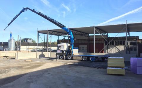 Utbyggnad av lager och produktionsyta på fabriken i Norge