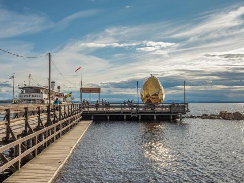 Solar Egg på Långbryggan i Rättvik