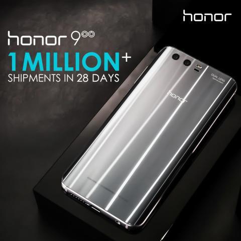 Över en miljon sålda enheter av Honor 9 på mindre än en månad