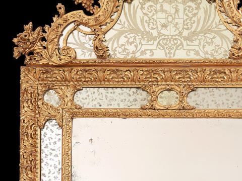 New Aquisition: Mirror ordered by Count Fabian Wrede in the 1690s