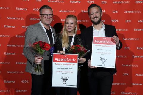 Moderna Försäkringar, vinnare i Leadsgenererande webbplatser - Episerver Awards 2016