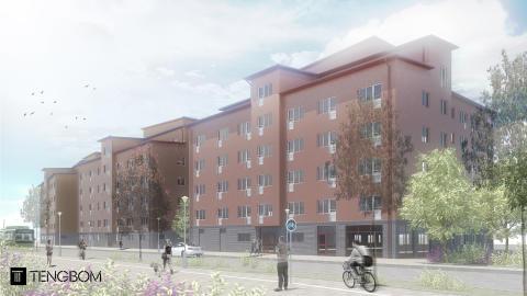 Lindbäcks tecknar avtal för bygg av 402 studentbostäder i Uppsala
