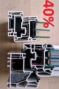 Pvc fönster, helt ny teknik och design, med 40% mer ljusinsläpp från Kronfönster.