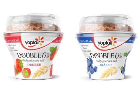 Yoplait Double 0 % med müsli